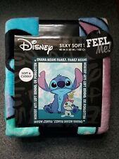 """Disney Lilo Stitch Soft Fleece Throw Travel Blanket 40"""" X 50"""" NEW"""