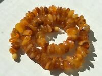 Natural Vintage Amber Beads Antique Baltic Old Necklace 54,75 gr.