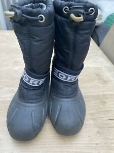 Sorel boots kids Uk 12 Black Winter