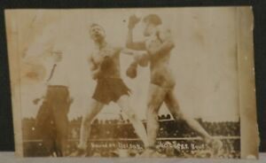 1910 Ad Wolgast and Battling Nelson, Round 34, Original Real Photo Postcard