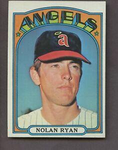 NOLAN RYAN 1972 TOPPS BASEBALL #595 CALIFORNIA ANGELS HOF EX-MT HOF
