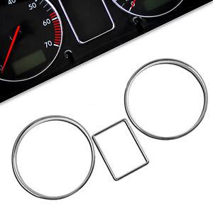 Chrome Gauge Rings for Skoda Octavia MK1 1U Dash Dial Dashboard Instrument trim