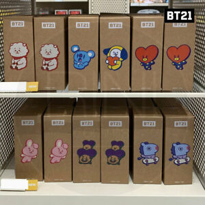 BTS BT21 Official Authentic Goods Slim Tumbler Bag SET 400ml 13.5oz + Tracking