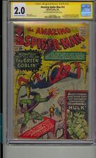 AMAZING SPIDER-MAN #14 CGC 2.0 SS SIGNED STAN LEE 1ST GREEN GOBLIN