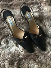 Isaac Mizrahi- Black Leather Pointed Toe Slingbacks Sz 11 B