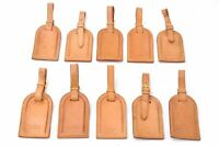 Authentic Louis Vuitton Name Tag Leather Beige 10Set LV A6777