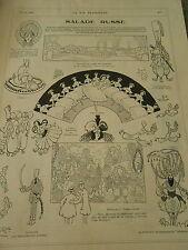 Salade Russe Polovtsiennes Tiaire Sultan Sylphides Humour Print 1910