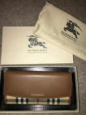 Burberry Horseferry Check & Tan Leather Wallet