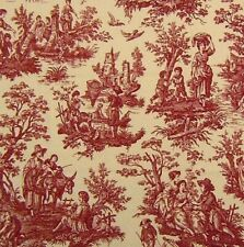 Waverly Country Life Toile Garnet Red Upholstery Drapery Sewing Fabric Bty