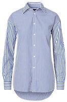 Ralph Lauren Women's Boyfriend Shirt In Blue/White Striped