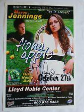 Fiona Apple Concert Poster Autographed Coors Light Miller Lite Mason Jennings