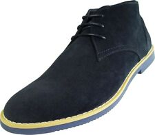 Parrazo Fellini Mens Classic Chukka Ankle Desert Suede Leather Lined Lace-Up Boo