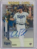 COLIN POCHE ROOKIE 2020 TOPPS CHROME AUTOGRAPH MLB CARD TAMPA BAY RAYS AUTO RC