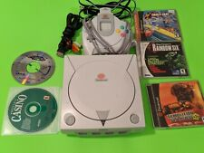 Sega dreamcast console bundle tested and works with 5 games included