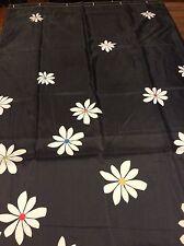 Black & White Floral Shower Curtain Black W/ White Flowers Multi Color Centers