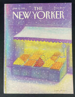 COVER ONLY ~ The New Yorker Magazine, January 12, 1981 ~ Eugene Mihaesco