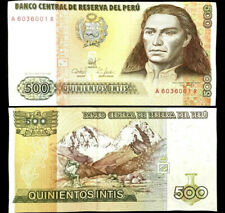PERU 500 INTIS Year 1987 Banknote World Paper Money UNC Currency Bill Note