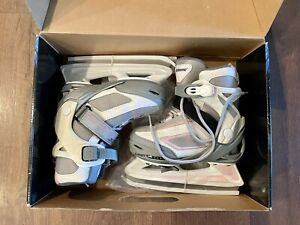 Bladerunner Dazzle Ice Skates Pink Grey Youth Size Adjustable US 11-12-13-1