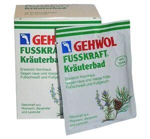 GEHWOL FUSSKRAFT Herbal Foot Bath Powder - 10 SACHETS X 20g - 200g