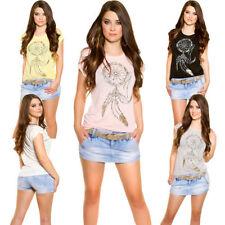 Camisa de mujer de manga corta talla S