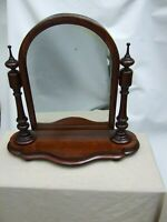 Antique Victorian Mahogany Carved Cheval Shaving Swing Mirror Vintage C.1880's