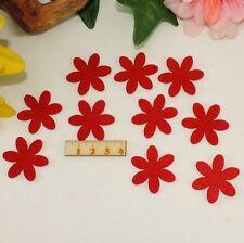 10 rote Blumen Filz 3cm Karten Basteln Geschenk Frühling Streudeko