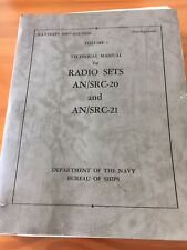 NAVSHIPS TECHNICAL MANUAL FOR RADIO SETS AN/SRC-20 AND 21 DEPT OF THE NAVY NICE