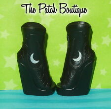 MONSTER HIGH CREATE A MONSTER WEREWOLF DOLL REPLACEMENT BLACK MOON BOOTS SHOES