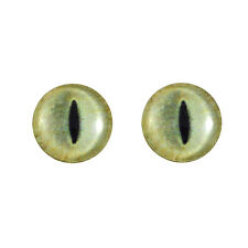 16mm Pale Yellow Cat Glass Eyes for Sculptures Jewelry Making or Taxidermy