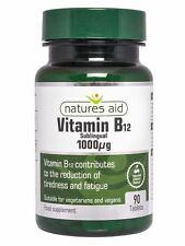 Natures Aid Vitamin B12 1000ug 90 Tablets - 3 Pack