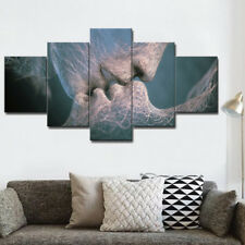 5 Piece Love&Kiss Abstract Art Canvas Oil Picture Painting Print Home Wall Decor