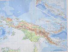 1958 LARGE MAP NEW GUINEA HOLLANDIA PORT MORESBY SOLOMON ISLAND GUADALCANAL
