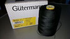 THREAD GUTERMANN MARA 11, 100% POLYESTER, 1 - Large Cone 1130m, Col:000