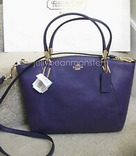 COACH 33733 SMALL KELSEY PEBBLED LEATHER CROSSBODY BAG Violet Purple NEW