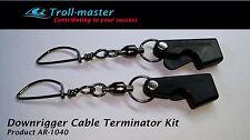 COPPIA (2) Downrigger Cable terminazioni da Troll-MASTER Penn Cannon Scotty Cavalluccio Marino