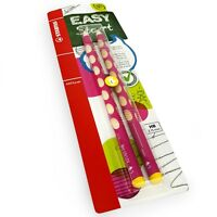 2 x STABILO Easygraph Handwriting Pencils - HB - Left Handed - Pink Barrel