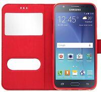 Etui Housse Coque Pochette Rouge Intérieur Silicone Samsung Galaxy S7