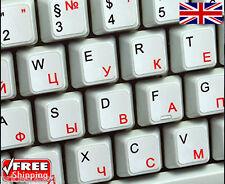 Anglais russe blanc autocollants avec lettres rouges pour ordinateur portable pc