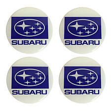 SUBARU Resina A Cupola Adesivi Per Auto Cerchi in lega centri (Set di 4)