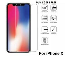 For iPhone x Tempered Glass Screen Protector CRYSTAL CLEAR Buy 1 Get 1 Free