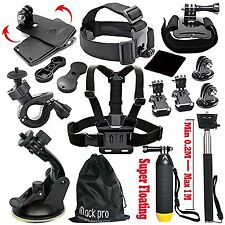 13in1 Black Pro Basic Common Outdoor Sports Kit for GoPro Hero 5 Session 5/4/3/2