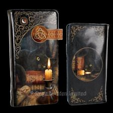 THE WITCHING HOUR  Fantasy Black Cat Art Embossed Purse By Lisa Parker (18.5cm)