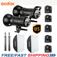 US 800w 2x Godox SK400II 400W 2.4G Studio Flash Strobe Softbox Stand Light KIT
