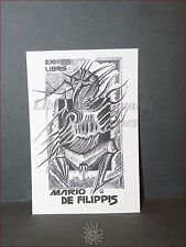 EROTICA - Ex-Libris Originale CIGNO TRIBALE Collezione Mario De Filippis