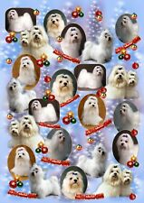 Maltese Dog Christmas Gift Wrapping Paper - by Starprint - One semi gloss sheet