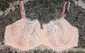 VS dream angel wicked unlined balconette push up bra new  36ddd pink