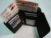 Ladies Leather Purse Wallet Black With Large Coin Pocket  RFID Protected