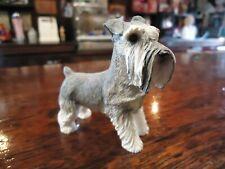 Lifelike Hand Cast Schnauzer Dog Sculpture Statue Standing, resin cast