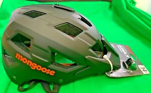 Mongoose Capture Adult Bicycle Helmet with camera mount-Brand New
