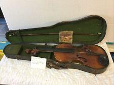 Antique German Made Violin Antonius Stradivarius Faciebat 1722 with Bow & Case